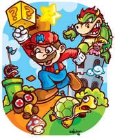 Super Mario Bros Level by petipoa