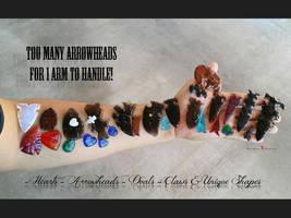 Too Many Arrowheads for 1 Arm to Handle! by DanielAPierce