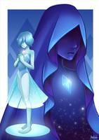 Steven Universe: Blue Diamond and Blue Pearl by Kisetsukaze