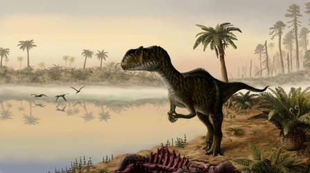 Dawn of the Jurassic Period. by Plioart