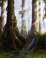 Diceratosaurus. by Plioart