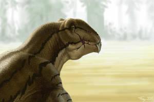 Old male Titanophoneus potens (Doliosaurus) by Plioart