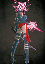 Psylocke by J0N-Lankry