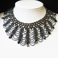 Skathari beaded gothic necklace collar by Sol89