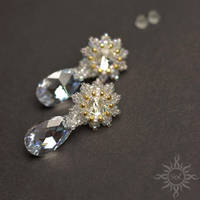 Wedding crystal earrings by Sol89