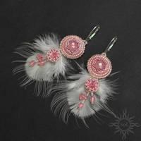 Flamingo earrings by Sol89