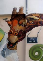 Giraffe Love by flakyou