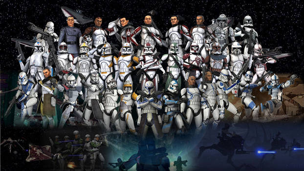 Clone Troopers Wallpaper by Volkrex