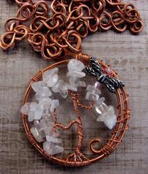 rose quartz tree of life by zella-de-venus