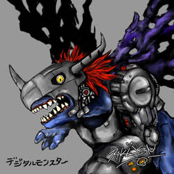 i heart metalgreymon by xmj