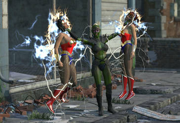 Wonder Woman Defeated 4 by spacebabes
