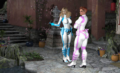 Space Babes Tania and Teri by spacebabes
