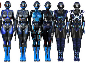 Space Babe Shock Trooper Test ideas by spacebabes