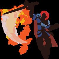 Roy (Smash 4, Default Costume) - Sunset Shores by Kevandre