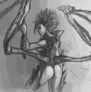 Kerrigan sketch by Xhaztol