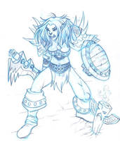 Magishala, Orc Shaman by Xhaztol