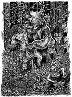 Frankenstein's Monster - The Battle by Tomoran