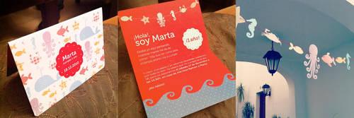 Birthday Card for Marta by vikifloki