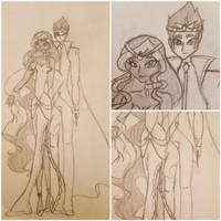Queen Aisha and King Nex of Andros by KoohiHime