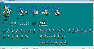 Net the hedghog Sprite Sheet - Screeshot by SonicDBZFan4125