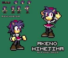 .:Comm:. ~ Akeno as a Sonic Sprite by SonicDBZFan4125