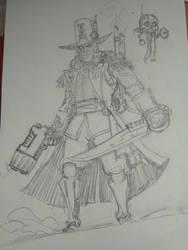 Warhammer 40k sketch by AndgIl