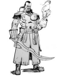 Old-school Comissar Warhammer 40k by AndgIl
