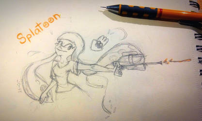 Splatoon Sketch  by sqoodio