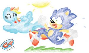 Sonic Vs. The Rainbow by ClassicTeam
