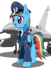 Leutnant Rainbow Dash Luftwaffe by JakobTheJ