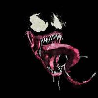Venom Splatter Art by mcbearcat7557