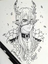 Inktober2018 - Random character by gattoshou