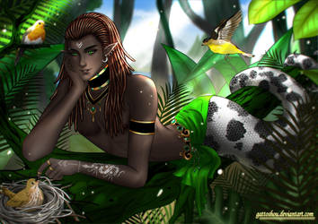 Commission179 : Ravensheart by gattoshou