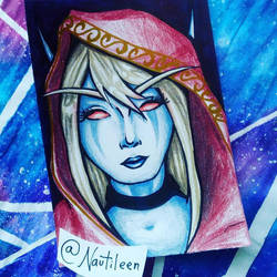 Lady Sylvanas Windrunner Card by Nautileen