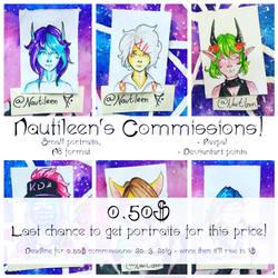 Mini Portrait COMMISSION INFO: Last Chance! by Nautileen