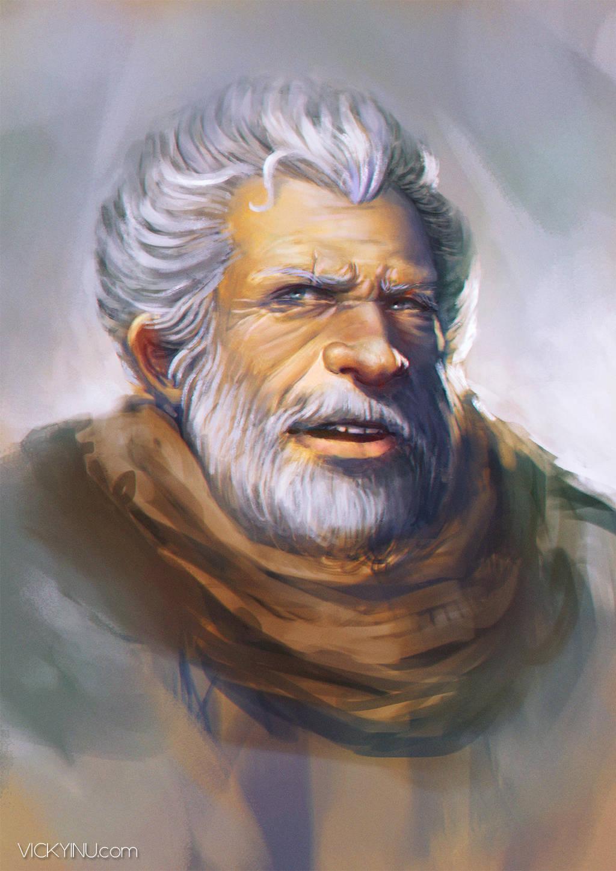 Old Man by VickyInu