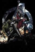 Avengers Age Of Ultron Artwork by J-K-K-S