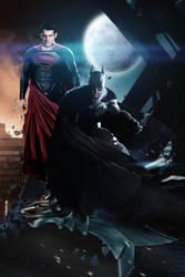 Batman/Superman Artwork by J-K-K-S