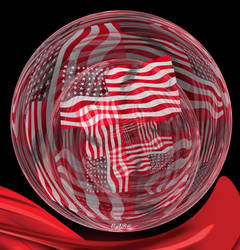 Flag Sphere by antarctica246
