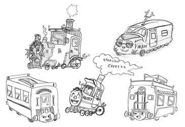 Starlight Express - Sketches by JaviDLuffy
