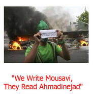 We Write Mousavi, They Read Ah by Iran