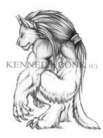 Werewolf Sketch 1 by Anioue
