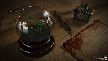 Garden in a globe by Avhaz