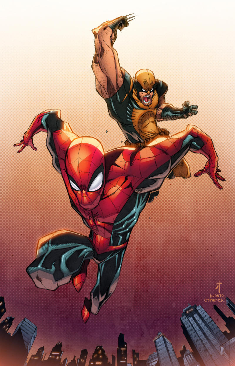 Spidey and Wolvie Color by JohnTimms