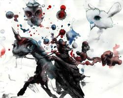 Freaking Princess on a Unicorn! by rskrakau