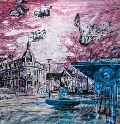 Moni ueber der Stadt (Moni over the city) by rskrakau