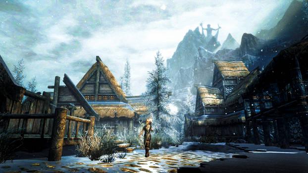 Winterhold - Skyrim by WatchTheSkies45