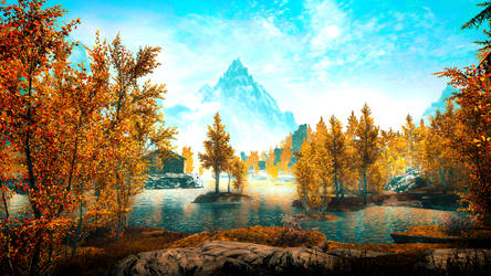 Lake Honrich - Skyrim by WatchTheSkiies