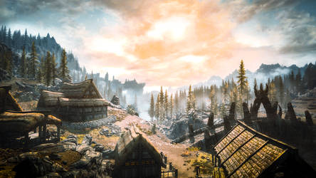 Dragon Bridge - Skyrim by WatchTheSkiies