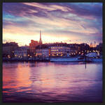 late autumn sunset by svenskalovenska